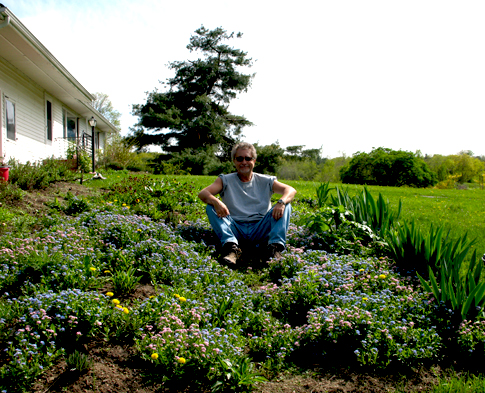 Curtis in the Satya Center Garden, Claverack, New York, 2007