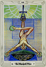 The Hanged Man, Trump XII, by Lady Frieda Harris and Aleister Crowley