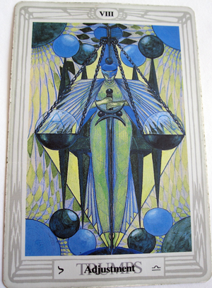 Tarot Trump VIII, Balance, Sign of Libra