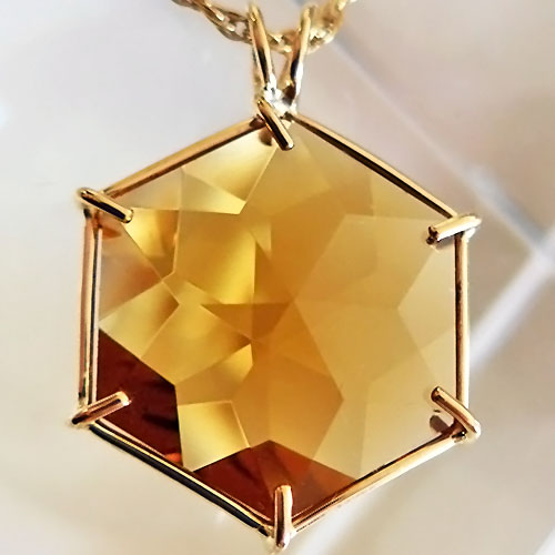 Flower of Life Citrine in 14kt Gold
